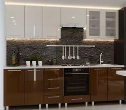 Bucătărie Bafimob Iulia (High Gloss) 2.6m Beige/Brown