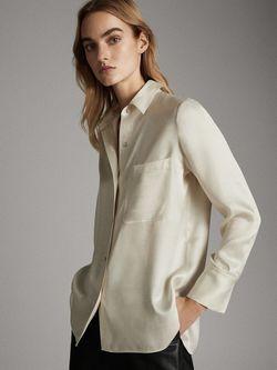 Блуза Massimo Dutti Светло бежевый 5138/532/712