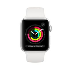 Apple Watch 3 38mm (MTEY2), Silver / White