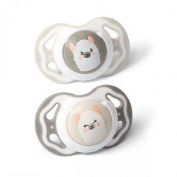 Симметричная силиконовая соска 3-6+ / 2 шт/ Lama