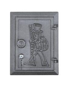 Дверца чугунная глухая инспекционная правая с замком DPK4