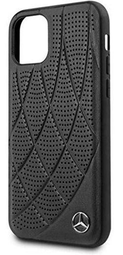купить Чехол для смартфона CG Mobile Mercedes Perforated Leather Back Cover for iPhone 11 Pro Max Black в Кишинёве
