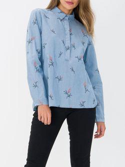 Блуза TOM TAILOR Синий с принтом