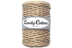 Twisted cord 3 mm, Beige