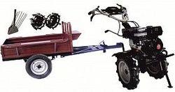 Набор мотоблок TECHNOWORKER HB 700RS ECO+Прицеп RK500 + плуг картофель + металлические колеса 4*8