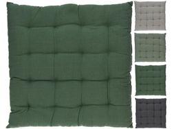 Подушка для стула/табурета H&S 40X40cm, H5cm, х/б, 4 цвета