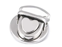 Handbag lock, Heart / silver