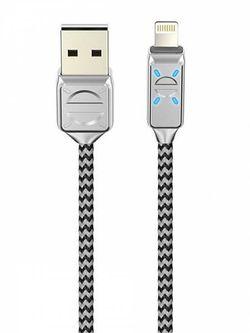 купить Кабель для моб. устройства Partner 38659 LED, USB 2.0 lightning, 2.1A, Olmio в Кишинёве