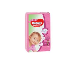 Scutece Huggies Ultra Comfort Small pentru fetiţă 4+ (10-16 kg), 17 buc.