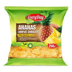 Ananas confiat, cubuțete, 250g