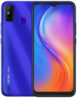купить Смартфон Tecno Spark 6 Go 2/32Gb (KE5) Aqua Blue в Кишинёве