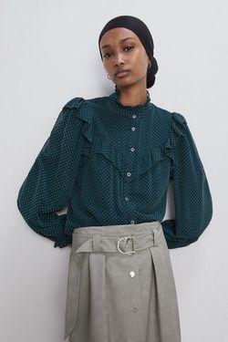 Блуза ZARA Зеленый 7484/162/409