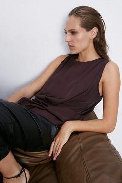 Блуза ZARA Темно бордо 3666/190/681