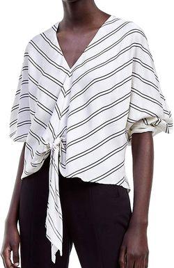 Блуза ZARA Белый в полоску 7816/760/070