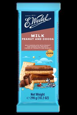 Молочный шоколад Wedel Peanuts and Cacao, 290г