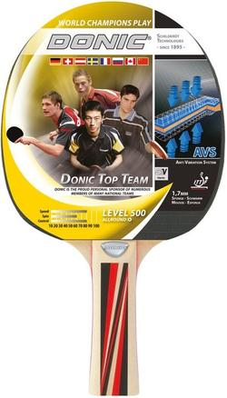 Paleta tenis de masa Donic Top Team 500 / 725051, 1.7 mm, Donic1*-rubber (3202)