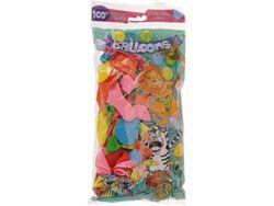 Set baloane 100buc, D20cm, diverse culori