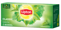 Ceai Lipton Green Tea Clasic, 25 pliuculeţe