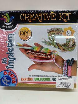 """Set pentru creativitate """"Sa Impletim"""", cod 43276"""