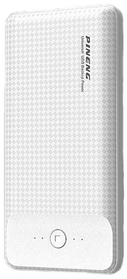 купить Аккумулятор внешний USB Pineng PN-939 White, 20000 mAh в Кишинёве