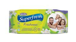 Влажные салфетки для всей семьи SuperFresh, 60 шт.