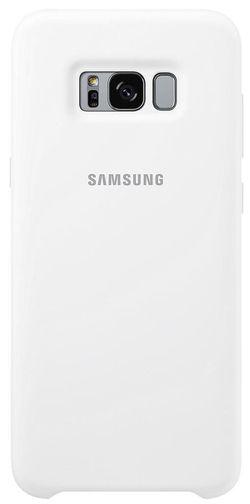 cumpără Husă pentru smartphone Samsung EF-PG955, Galaxy S8+, Silicone Cover, White în Chișinău