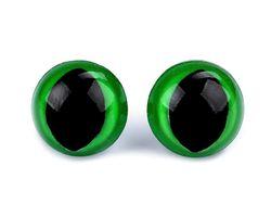 Ochi de pisică cu dispozitiv de siguranță, Ø14 mm / verde