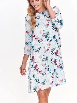 Платье TOP SECRET Голубой с принтом ssu2335