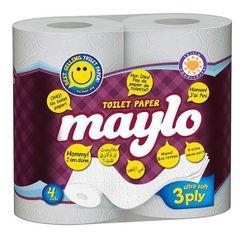 Туалетная бумага MAYLO 3 слоя 19м*4
