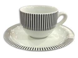 Чашка для кофе 75ml с блюдцeм Tognana Capri, в полоску
