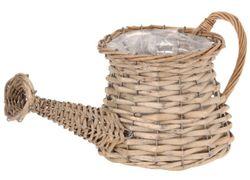 Кашпо для цветов плетеное