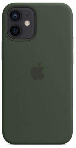 cumpără Husă pentru smartphone Apple iPhone 12 mini Silicone Case with MagSafe Cypress Green (MHKR3) în Chișinău