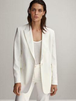 Пиджак Massimo Dutti Белый 6080/680/250