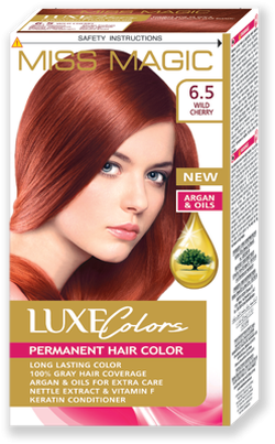 Vopsea p/u păr, SOLVEX Miss Magic Luxe Colors, 108 ml., 6.5 - Roșcat intens