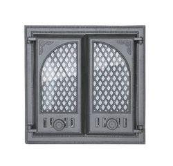 Дверца чугунная со стеклом двустворчатая LITWA I