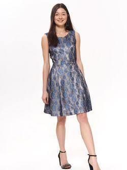 Платье TOP SECRET Серый/синий ssu2668