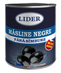 Маслины черные LIDER 850ml (без косточки)