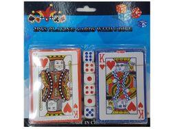 Набор карты игральные 2колоды 54шт 6 кубиков