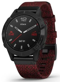 cumpără Ceas inteligent Garmin fenix 6 Pro Sapphire editions Black DLC with heathered red nylon band în Chișinău