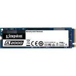 .M.2 NVMe SSD 250 ГБ Kingston A2000 [PCIe 3.0 x4, R / W: 2000/1100 МБ / с, 150/180 K IOPS, SM2263, 3DTLC]