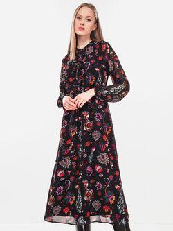 Платье TOM TAILOR Черный с принтом 1005970