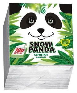 Șervețele de masă PANDA 24*24 1 str. 100 buc. albe, galbene, verde