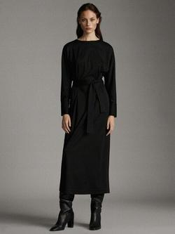 Платье Massimo Dutti Чёрный 6611/739/800