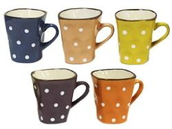 Чашка 180ml, рельефная с точками малая, керамика