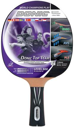 Paleta tenis de masa Donic Top Team 800 / 754198, 1.8 mm, Vari Slick-Rubber (3895)