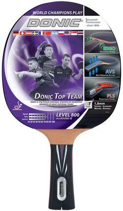 Ракетка для настольного тенниса Donic Top Team 800 / 754198, 1.8 мм, Vari Slick-Rubber (3895)