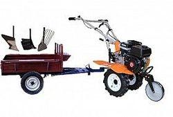 Set motocultivator TECHNOWORKER HB 700N +Remorca RK500 + plug cartofi + plug simplu + plug reglabil