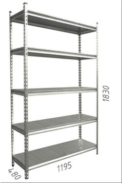 Стеллаж металлический с металлической плитой Gama Box 900Wx580Dx1830 Hмм, 5 полок/MB