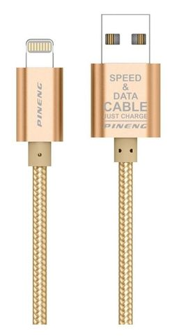 cumpără Cablu telefon mobil Pineng PN-305 Rapid Lightning (auriu) în Chișinău