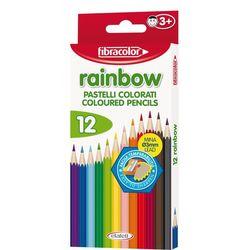 Карандаши цветные Fibracolor Baby Rainbow 12 цветов с точилкой
